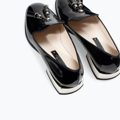 Image 5 of PATENT SLIP-ON SHOES from Zara