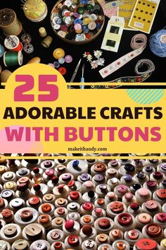 Have you wondered how can recycle the old buttons into useful things? Top 25 the creative and fun crafts with buttons will help you utilize the old buttons. #diycrafts #craftideas #craftwithbuttons #buttons