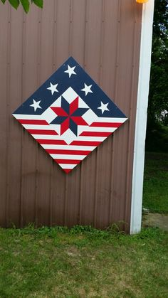 Barn quilt, painted quilt block select your size. Beautiful red, white and blue Barn quilt painted quilt block select your size. Barn Quilt Designs, Barn Quilt Patterns, Quilting Designs, Block Patterns, Quilting Ideas, Painted Barn Quilts, Painted Wood, Barn Signs, Patriotic Quilts