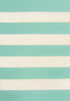 RugStudio presents Trans-Ocean Positano Rugby Stripe Aqua 1213/04 Hand-Tufted, Better Quality Area Rug