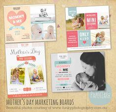 Muttertag Vorlagen MiniSitzungen Bundle IM010 von PaperLarkDesigns