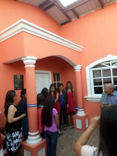 Ribbon cutting for the inauguration of the new transition home for girls.