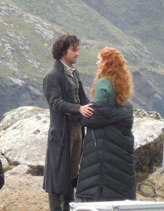 BTS of Poldark S2 with Aidan Turner and Eleanor Tomlinson