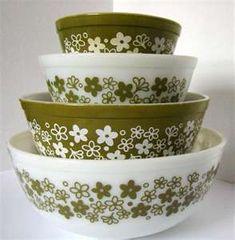 Vintage Green Pyrex :)