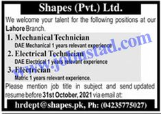 Jobs Description Today Jobs in Lahore 2021 Apply Online at Shapes Pvt Ltd has been announced through the advertisement and applications from the suitable persons are invited on the prescribed application form. In these Latest Private Jobs the eligible Male/Female candidates from across the country can apply through the procedure defined by the organization and ... Read more The post Jobs in Lahore 2021 Apply Online at Shapes Pvt Ltd appeared first on JobUstad.