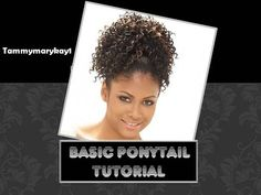 Basic Draw String Ponytail Tutorial ~ Have you always been the person that wants that Ponytail Hairstyles, Weave Hairstyles, Cute Hairstyles, Hair Line Up, Herringbone Braid, Natural Hair Styles, Short Hair Styles, Ponytail Tutorial, Sport Hair