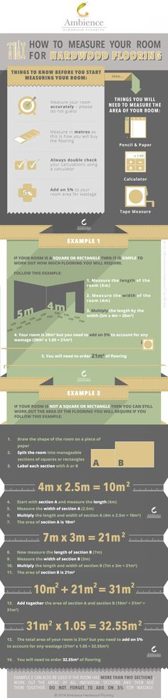 How to Measure your Room for Hardwood Flooring Infographic