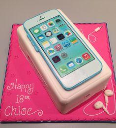 iPhone 5C Cake 17 Birthday Cake, Apple Birthday, Birthday Cakes For Teens, 13th Birthday Parties, Sweet 16 Birthday, 14th Birthday, Iphone Cake, Iphone 5c, Girl Cupcakes