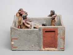 Model of a granary with scribe and overseer | Middle Kingdom | The Met