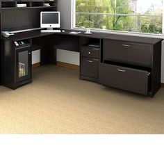 Bush Industries Cabot L-Shape Executive Desk Office Suite & Reviews | Wayfair