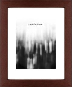 Black and White Bokeh Framed Print, Brown, Contemporary, White, White, Single piece, 11 x 14 inches