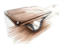 TABLE / POOL TABLE SKETCHES WIP - 2014 by Marc TRAN, via Behance