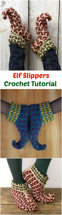 Crochet Elf Slippers