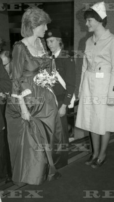 March 1982 a pregnant Princess Diana visited the Barbican Centre in London