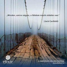 Jack Canfield bölcsessége a félelemről. A kép forrása: Elixír Könyvesbolt