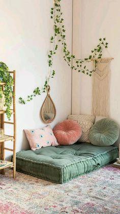 Room Design Bedroom, Room Ideas Bedroom, Home Room Design, Bedroom With Sofa, Yoga Bedroom, Bedroom Corner, Bedroom Interiors, Diy Home Decor Bedroom, Home Yoga Room