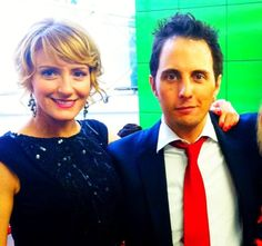 Helene Joy and Jonny Harris of Murdoch Mysteries, 2013.