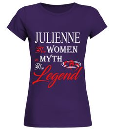 # JULIENNE THE MYTH THE WOMEN THE LEGEND .  JULIENNE THE MYTH THE WOMEN THE LEGEND  A GIFT FOR THE SPECIAL PERSON  It's a unique tshirt, with a special name!   HOW TO ORDER:  1. Select the style and color you want:  2. Click Reserve it now  3. Select size and quantity  4. Enter shipping and billing information  5. Done! Simple as that!  TIPS: Buy 2 or more to save shipping cost!   This is printable if you purchase only one piece. so dont worry, you will get yours.   Guaranteed safe and…