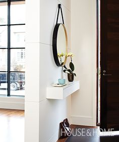 entryway decor small entrance \ entryway decor & entryway decor small & entryway decor modern & entryway decor farmhouse & entryway decor elegant & entryway decor with bench & entryway decor ideas & entryway decor small entrance Small Closet Storage, Shallow Shelves, Small Entryways, Home Organization Hacks, Entryway Decor Small, Home Organization, Small Decor, Home Decor, Entryway Console Table
