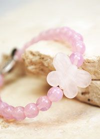 Offspring is a perfectly pink child sized elastic bracelet, made with glass Czech beads and a pink quartz butterfly.  A silver-toned Tibetan style accent bead with the word 'Faith' may encourage her to talk about her relationship with God.  The story of a butterfly's growth is a wonderful way to explain our own development - first learning to crawl, and then using our beautiful talents to fly.  Christian Jewelry I Christian Bling I Faith