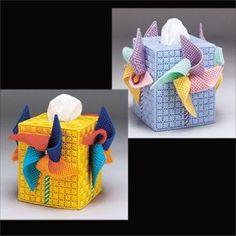 Plastic Canvas Tissue Holder Patterns   Leisure Arts - Pinwheel Tissue Box Cover Plastic Canvas Pattern ...