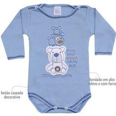Body Masculino para Bebê Little Bear Azul - Patimini :: 764 Kids | Roupa bebê e infantil