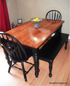 DIY: Dining Room Table and Chairs Makeover...tutorial for later