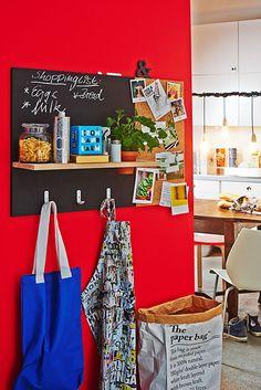 DIY: Cómo hacer un panel organizador para la cocina - http://decoracion2.com/diy-como-hacer-un-panel-organizador-para-la-cocina/ #Bricolaje_Decorativo, #Decoracion_De_Cocinas, #Decoración_De_Paredes