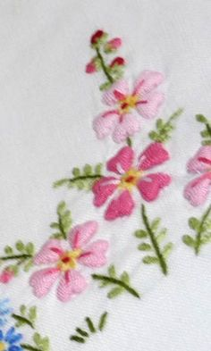 vintage embroidered flowers guest towels