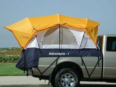 Pulling a horse trailer can be a drag when it comes time to camp.  This tent helps keep me off the ground in wet weather, is big enough for a cot and my pack, and removes easily to set on the ground or a picnic table if I need the truck.