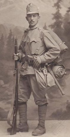 austrian infantry in a trench note one holding up a. Black Bedroom Furniture Sets. Home Design Ideas