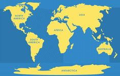 Editable powerpoint map world map 7 continents editable the worlds five great oceans gumiabroncs Image collections