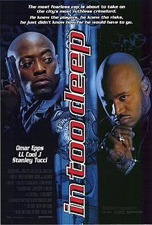 Official theatrical movie poster for In Too Deep Directed by Michael Rymer. Starring Omar Epps, LL Cool J, Nia Long, Stanley Tucci Classic Movie Posters, Original Movie Posters, Classic Films, Dope Movie, Movie Tv, Movie Memes, Movie Props, African American Movies, Omar Epps