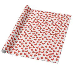 Scattered Hearts Wrapping Paper #valetinesday #hearts #love #wrappingpaper #gifts