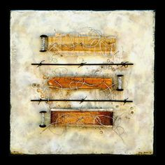 tangents - kathy miller | artist  Encaustic Mixed Media