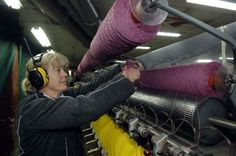 Wool Spinning Mills | ... yarn in the woollen spinning area at the Bruce Woollen Mill yesterday