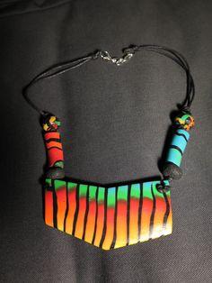 fimo náhrdelník Africa