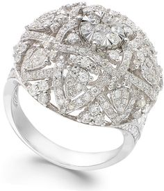 Bouquet by EFFY Diamond Ring in 14k White Gold (1-5/8 ct. t.w.) on shopstyle.com