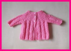 Here is my latest little baby jacket.    NINA Baby Jacket  For a 0 - 3 month baby  DK yarn 4 ...