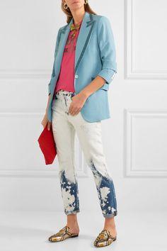 Gucci | Velvet-trimmed wool blazer | NET-A-PORTER.COM