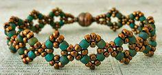 Linda's Crafty Inspirations: Bracelet Remake: Double Diamond Bracelet