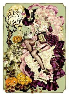 Halloween Witch Sakizou Artwork