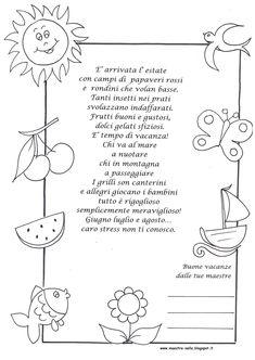 """maestra Nella: poesia """"è arrivata l'estate"""""""