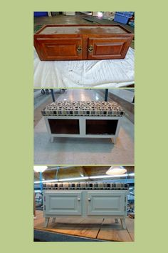 I took an old kitchen cabinet and turned it into a bench for a mud room or the front door. Looks good without the doors too. Look what you could have done Bearden Bearden Wilson Hamann with your old cabinets! Furniture Projects, Furniture Making, Furniture Makeover, Home Projects, Diy Furniture, Old Kitchen Cabinets, Kitchen Windows, Organizing Hacks, Organization