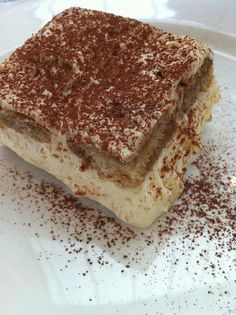 This recipe for Tiramisu can be made a couple of day before you're serving time, it will make it even better. If you do not have Kahlua, Creme de Cacas is delicious too. If you desire omit the liqueur and is still really good. If you are looking to reduce calories, use part-skim Ricotta instead of Mascarpone. This elegant and yummy dessert will pair with any meal. Enjoy!