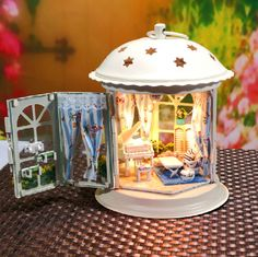 "awesomeetsy: "" DIY Lantern Dollhouse Miniature Handcraft Kit Gifts Miniature craft Kits Kids Women Men Toy Assembly Dollhouse kits Model Kit DIY Kits """