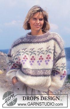 Free knitting patterns and crochet patterns by DROPS Design Knitting Patterns Free, Free Knitting, Free Pattern, Crochet Patterns, Drops Design, Lucy Fashion, Magazine Drops, Angora, Fair Isle Knitting