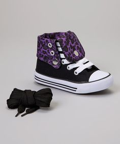 Look what I found on #zulily! Black & Purple Leopard Hi-Top Sneaker by Collection'O #zulilyfinds