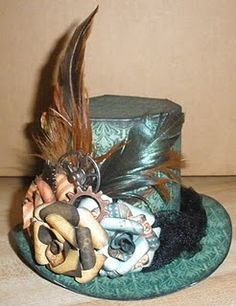 steampunk hat needed in black, red, and grey.  not all in one though  ;)