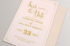Printable Save the Date Card Blush Pink and Gold Save by plpapers